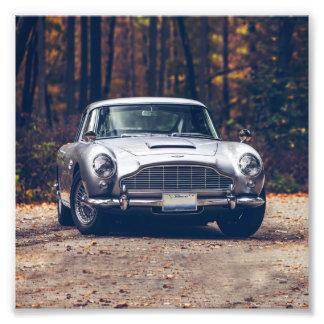 Classic car vintage retro,silver art photo