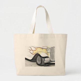 Classic Car with Flames Canvas Bag