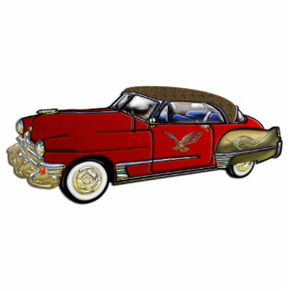 Classic Car with Leather Top Standing Photo Sculpture