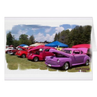 Classic Cars Birthday Card (Large Print)
