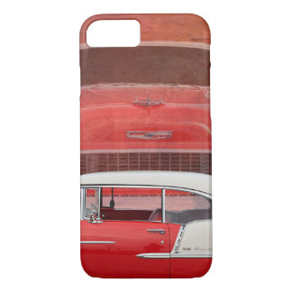 Classic Cars Chevy Bel Air Dodge Red White Vintage iPhone 7 Case