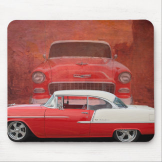 Classic Cars Chevy Bel Air Dodge Red White Vintage Mouse Pad