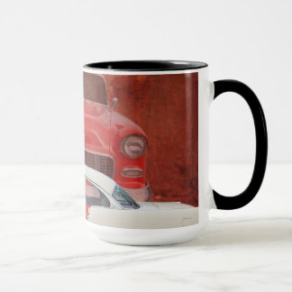 Classic Cars Chevy Bel Air Dodge Red White Vintage Mug