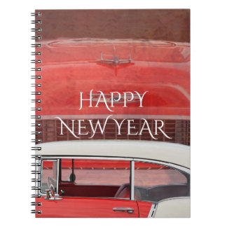 Classic Cars Chevy Bel Air Dodge Red White Vintage Notebooks