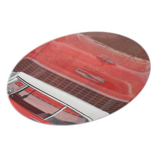 Classic Cars Chevy Bel Air Dodge Red White Vintage Plate