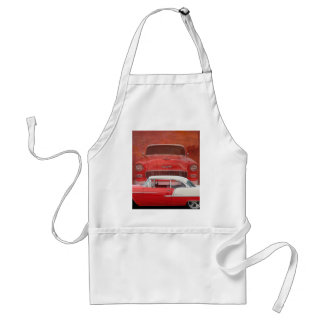 Classic Cars Chevy Bel Air Dodge Red White Vintage Standard Apron