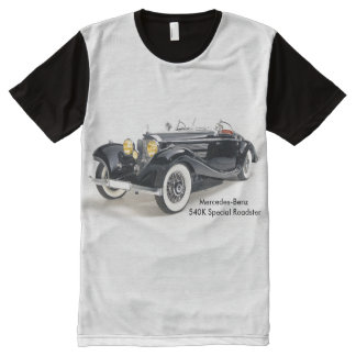 Classic cars Men's-All-Over-Printed-Panel-T-Shirt All-Over Print T-Shirt