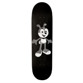 Classic Cartoon Bunny Black Skateboard