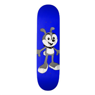 Classic Cartoon Bunny Blue Skateboard