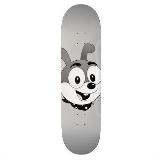 Classic Cartoon Bunny Grey Skateboard