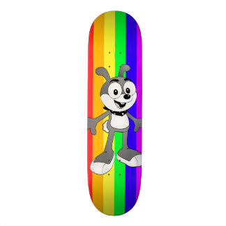 Classic Cartoon Bunny Rainbow Skateboard