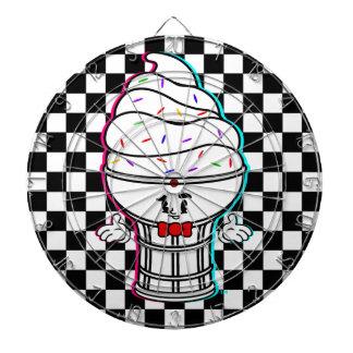 Classic Cartoon IceCream Checker Dartboard