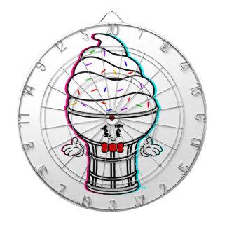 Classic Cartoon IceCream White Dartboard