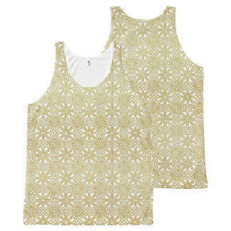 Classic Celtic Knot Wedding Gold & Green pattern All-Over Print Tank Top