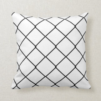 Classic Chain Link Throw Pillow in Black and White