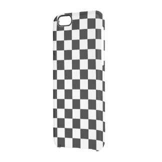 Classic Checkered Racing Flag Check Black White Clear iPhone 6/6S Case