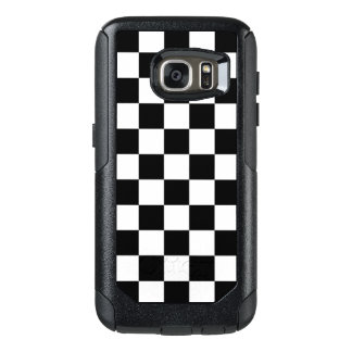 Classic Checkered Racing Flag Check Black White OtterBox Samsung Galaxy S7 Case