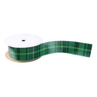 Classic Cheerful Plaid | green Satin Ribbon