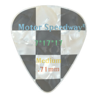 Classic Chequered Racing Check Black and White Pearl Celluloid Guitar Pick