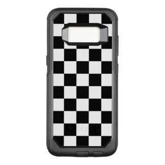 Classic Chequered Racing Flag Check Black White OtterBox Commuter Samsung Galaxy S8 Case