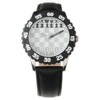 Classic chess board watch