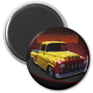 Classic Chevrolet pickup 6 Cm Round Magnet