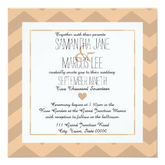 Classic Chevron Wedding Invitation