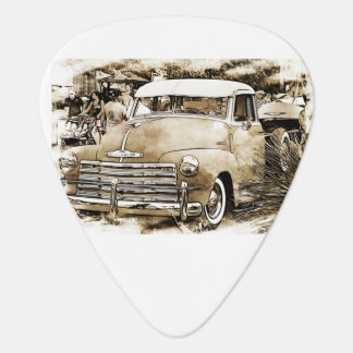 Classic Chevy Chevrolet pickup truck. Plectrum