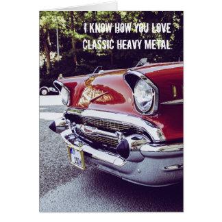Classic Chevy Heavy Metal Birthday Card