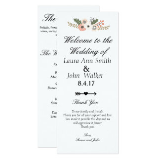 Classic chic wedding program