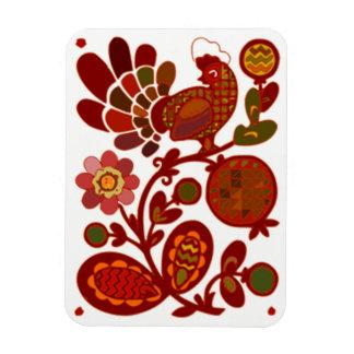 Classic Chicken in a Garden Design Magnet