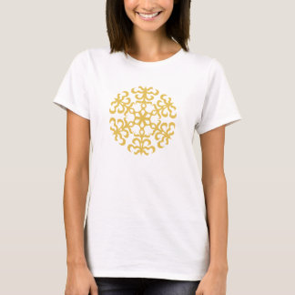 Classic Christmas Gold Winter Snowflake T-Shirt