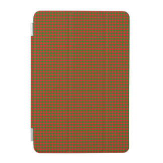 Classic Christmas Red and Green Houndstooth Check iPad Mini Cover