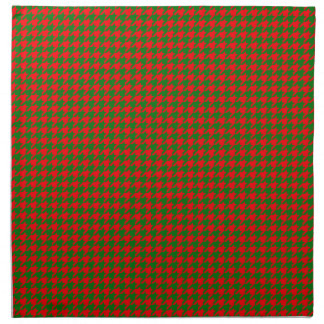 Classic Christmas Red and Green Houndstooth Check Napkin
