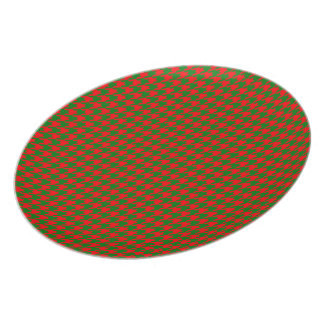 Classic Christmas Red and Green Houndstooth Check Plate