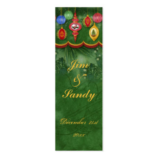 Classic Christmas Wedding Gift Tag / Favor Cards Business Card Templates