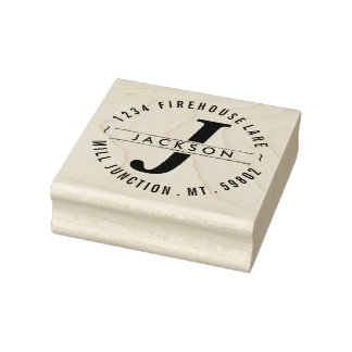 Classic Circle Return Address Stamp with Monogram