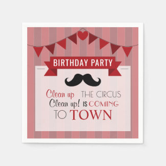 Classic Circus Poster Children's Birthday Party Paper Napkin