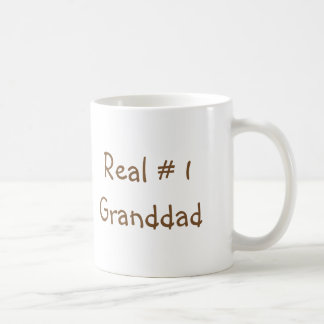 "Classic coffee mug with ""Real # 1 Granddad"