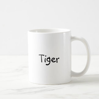 "Classic coffee mug with ""Tiger"""