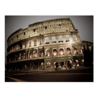 Classic coliseum postcard
