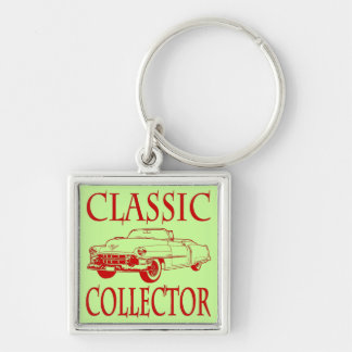Classic Collector Silver-Colored Square Key Ring