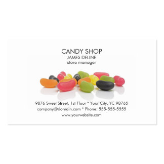 Classic Colorful Candies Candy Shop Pack Of Standard Business Cards