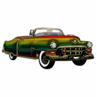 Classic Convertible Cadillac Standing Photo Sculpture