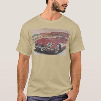 Classic Corvette on Route 66 T-Shirt