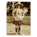 Classic Cowgirl Greeting Card