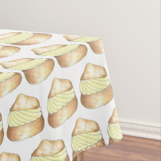 Classic Cream Puff Creampuff Bakery Pastry Chef Tablecloth