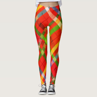 Classic Cross-Hatch Merry Christmas Leggings