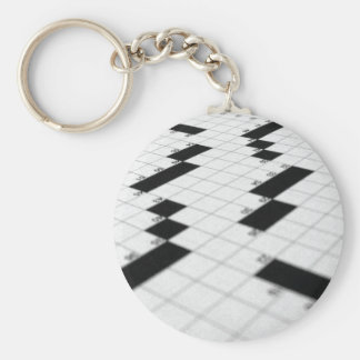 Classic Crossword Puzzle Grid keychain