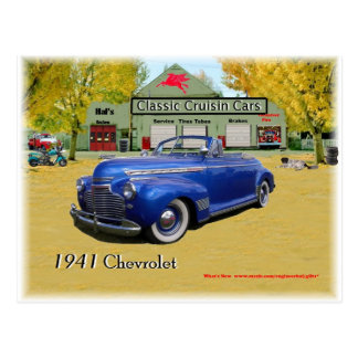Classic Cruisin Cars 1941 Chevy Postcard